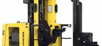 Empilhadeira elétrica trilateral articulada